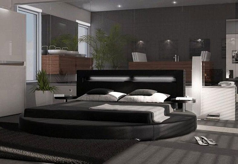 luxury modern bedroomback painted glass with engrooved painted - neue schlafzimmer look flou