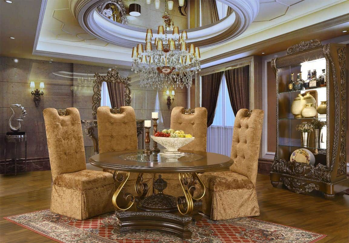 Superb Luxurious Dining Room With Unique Royal Dining Chairs And