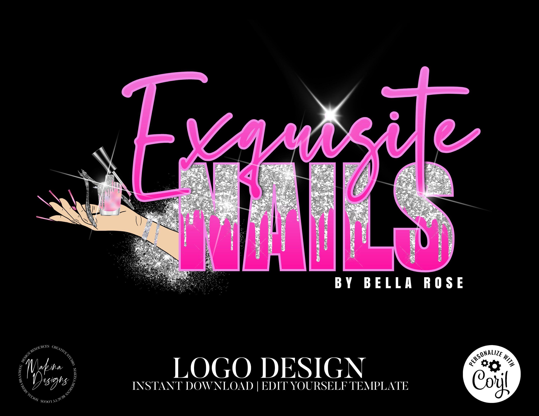 NAIL LOGO DESIGN nails Logo Logo design Logo Premade logo