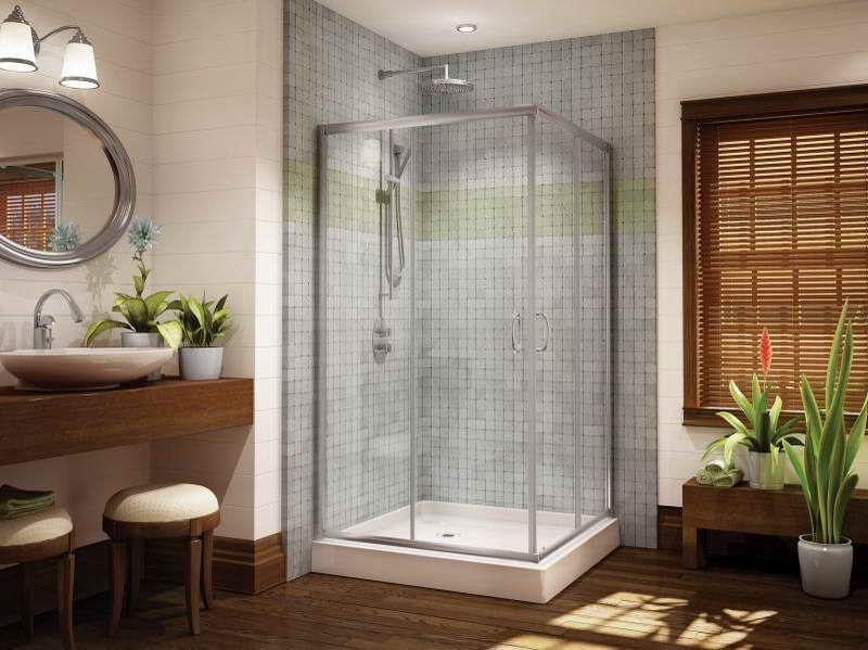 Small Bathroom Corner Shower corner glass shower doors - shower solution for small bathrooms