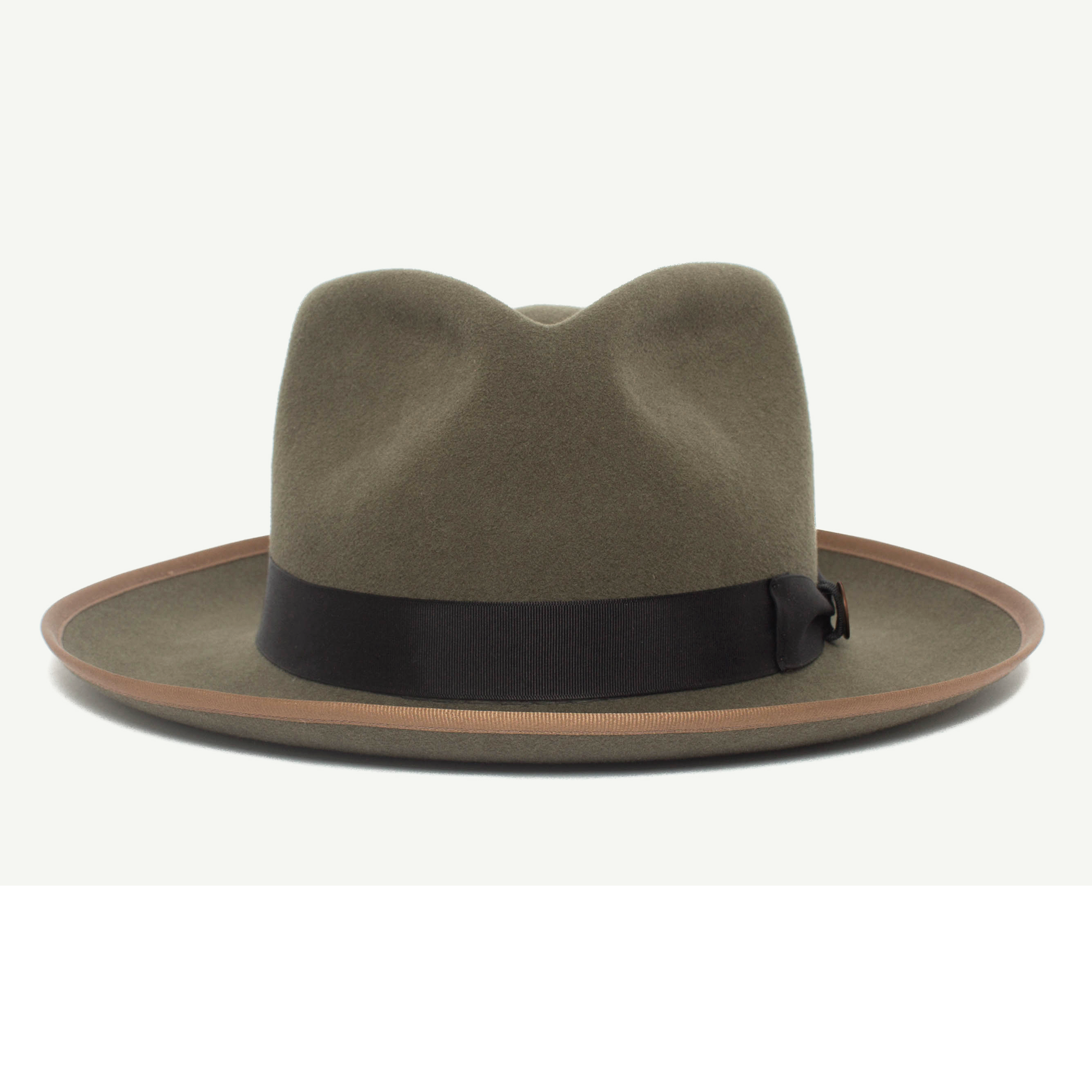 78d45f37bc90ea River Gray wool wide brim fedora hat with 2 3/4