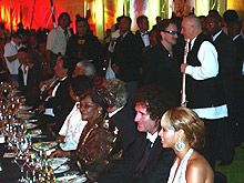 Beyonce, Brian May and Bono with Peter Gabriel. ☺