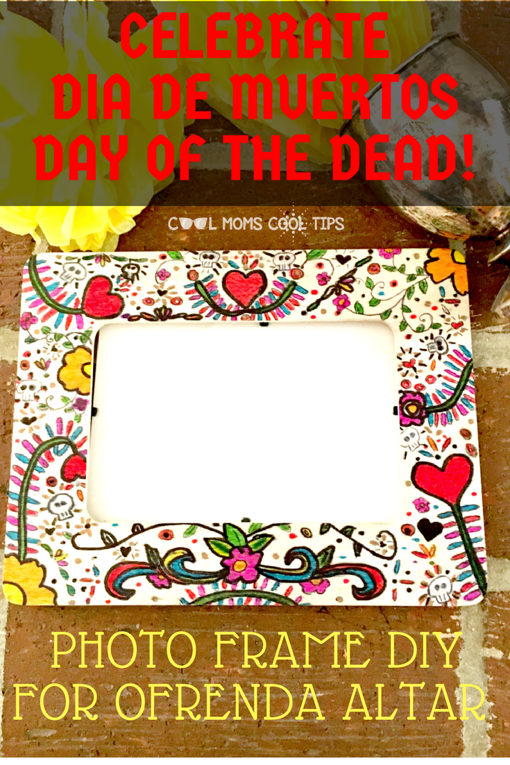 Diy Photo Frame For The Day Of The Dead Ofrenda Altar Latina