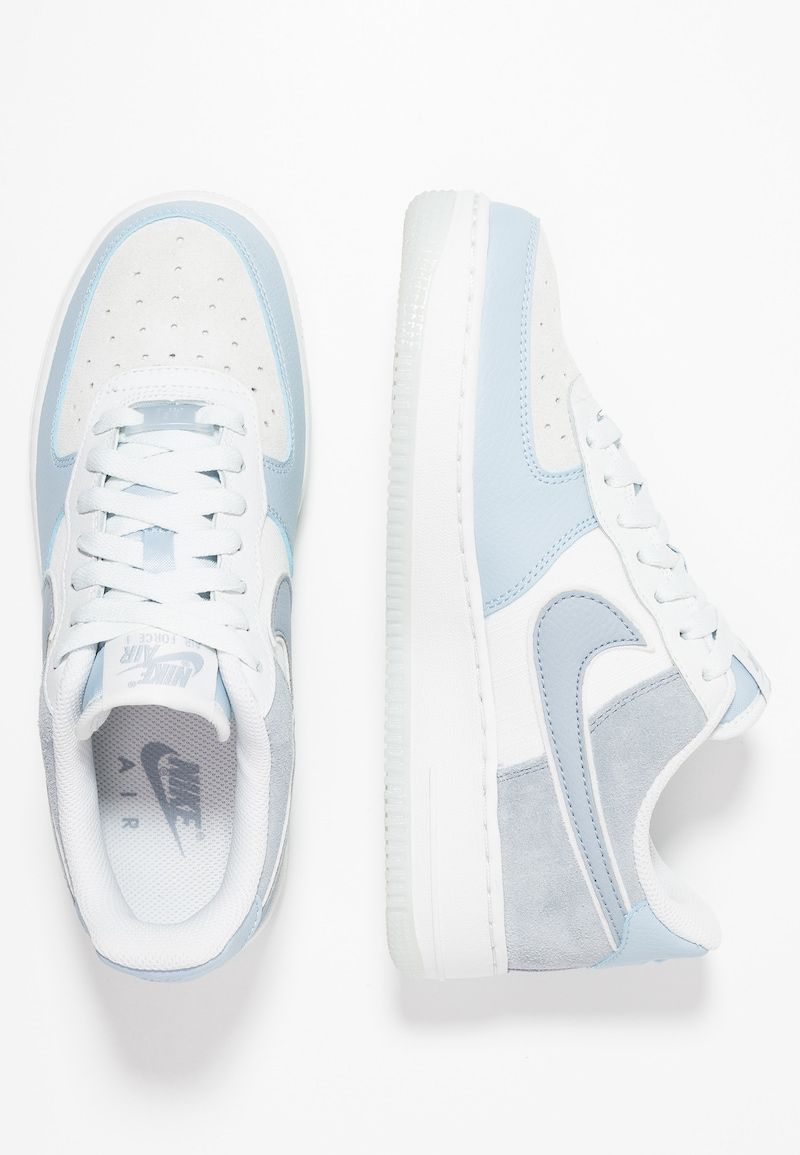 Nike Sportswear Air Force 1 07 Lv8 2 Trainers Light Armory Blue Obsidian Mist Offwhite Zalando De Nike Shoes Air Force Nike Air Shoes Cute Nike Shoes