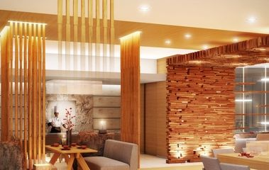Japanese Restaurant Interior Design With Wooden Wall Asian Restaurant  Decorating Ideas