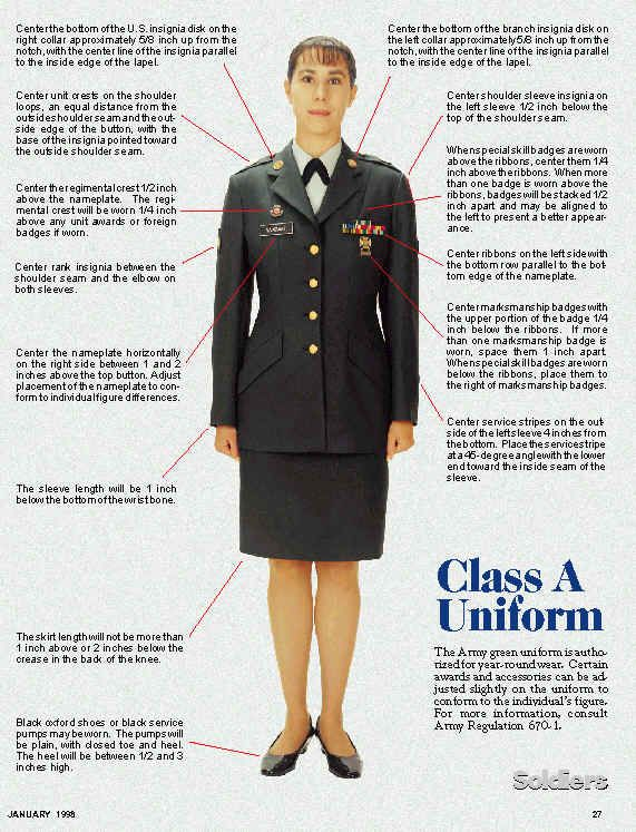 Army Class A uniform. | uniforms | Army dress uniform, Army service uniform, Army