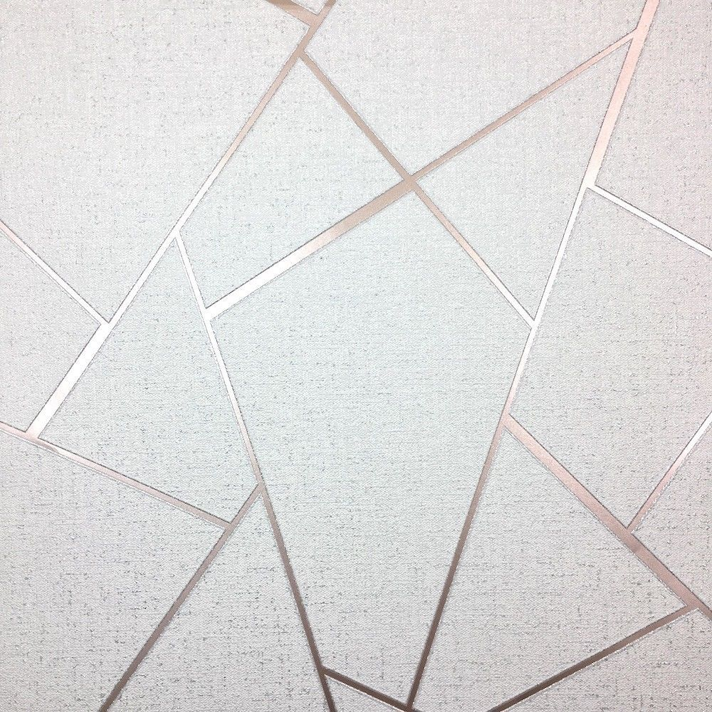 Fine Decor Apex Quartz Metallic Wallpaper Abstract Triangle Fd Rose Gold Ebay