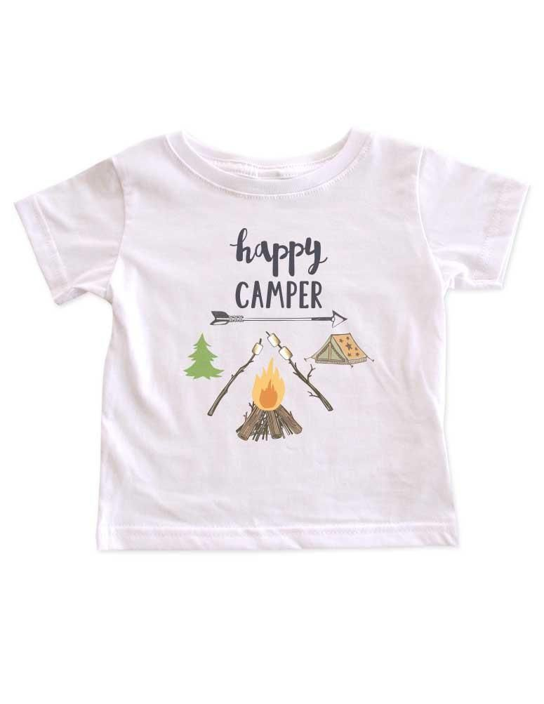 a76d49faf93e8 happy Camper hipster camping mountains camp design baby onesie bodysuit Infant  Toddler Shirt Hello Handmade
