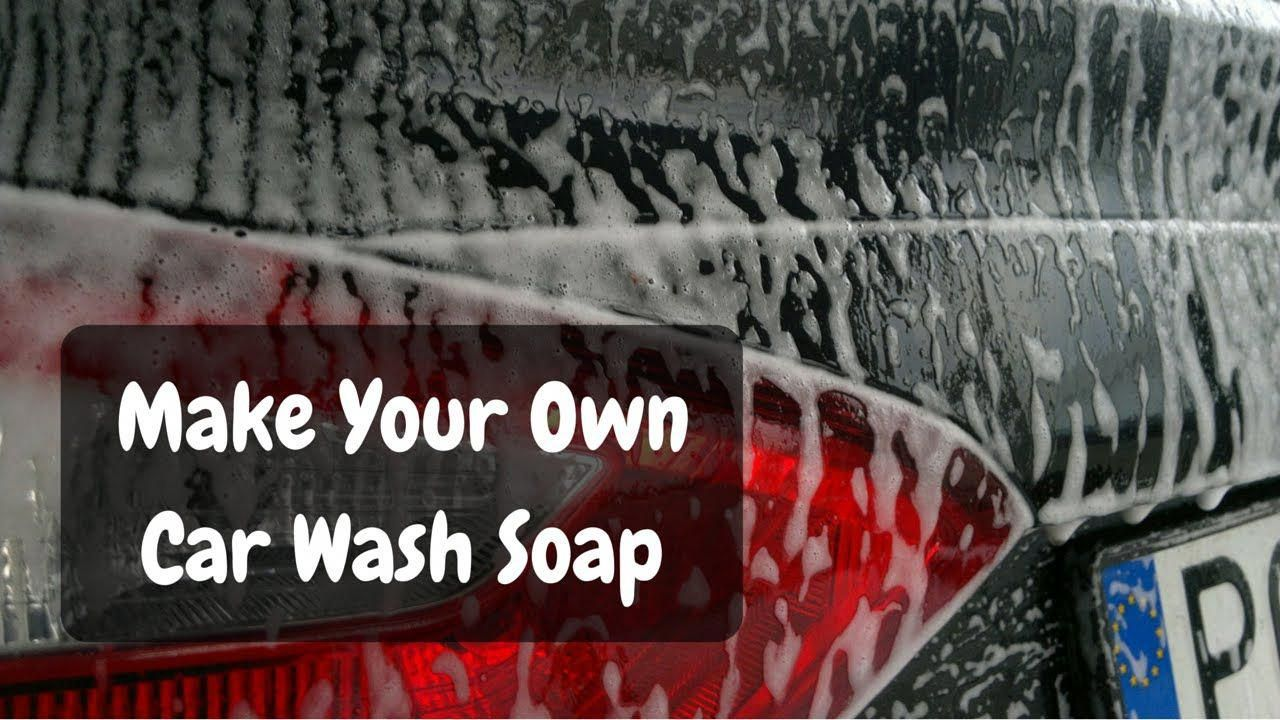 Why buy car wash soap when you can make equally effective