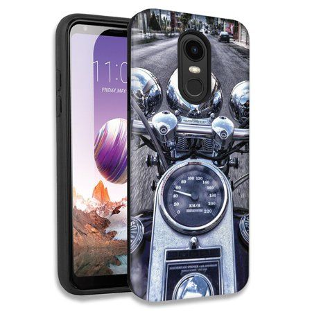Mundaze Motorcycle Chopper Double Layer Hybrid Case Cover For LG Tribute Dynasty/Aristo 2/Aristo 3 Plus - Walmart.com