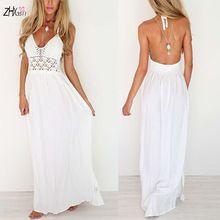 Robe blanche longue d'ete