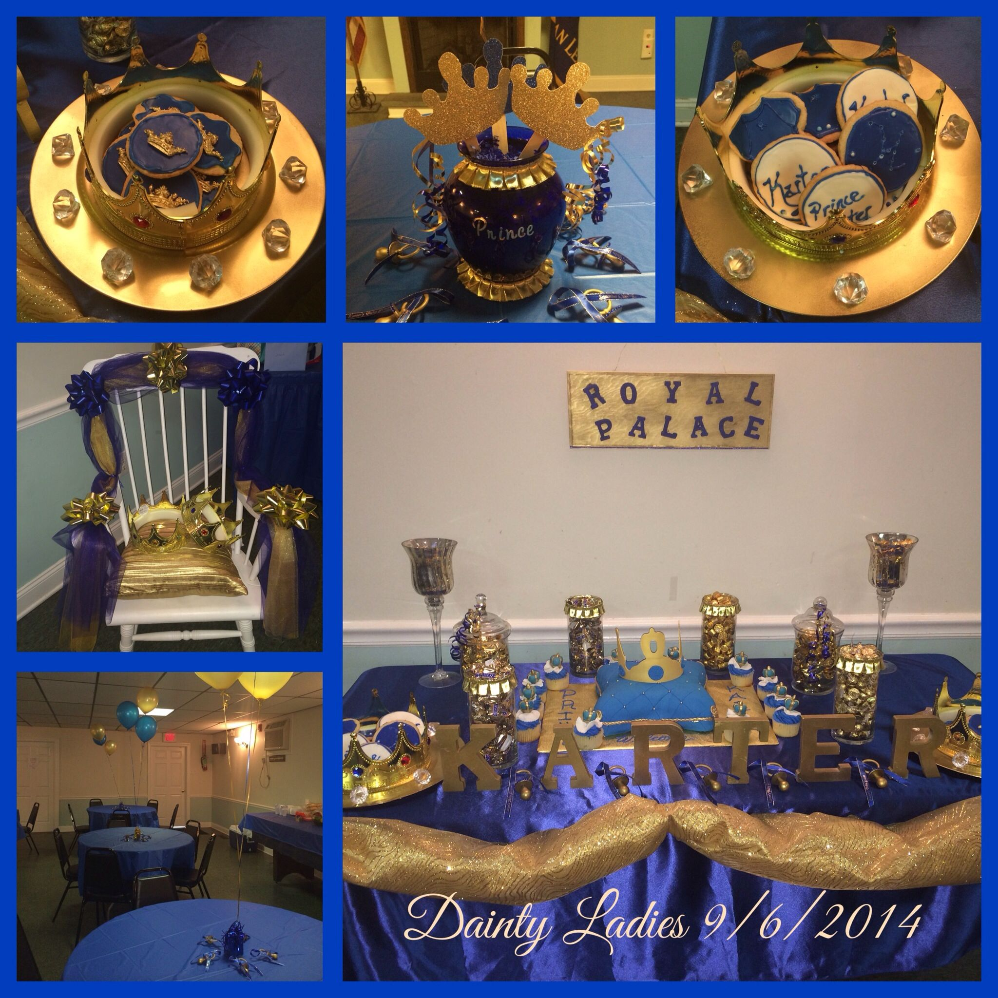 Royal Blue U0026 Gold Prince Baby Shower