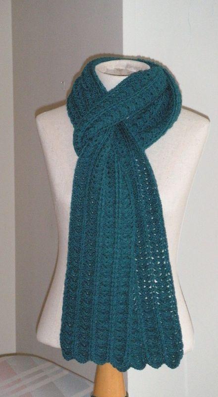 Shell And Bar Scarf By Karen Klemp - Free Crochet Pattern - (ravelry ...