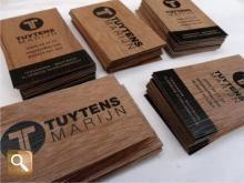 Business Card Wood Print On Wood Micrwood Visitenkarten