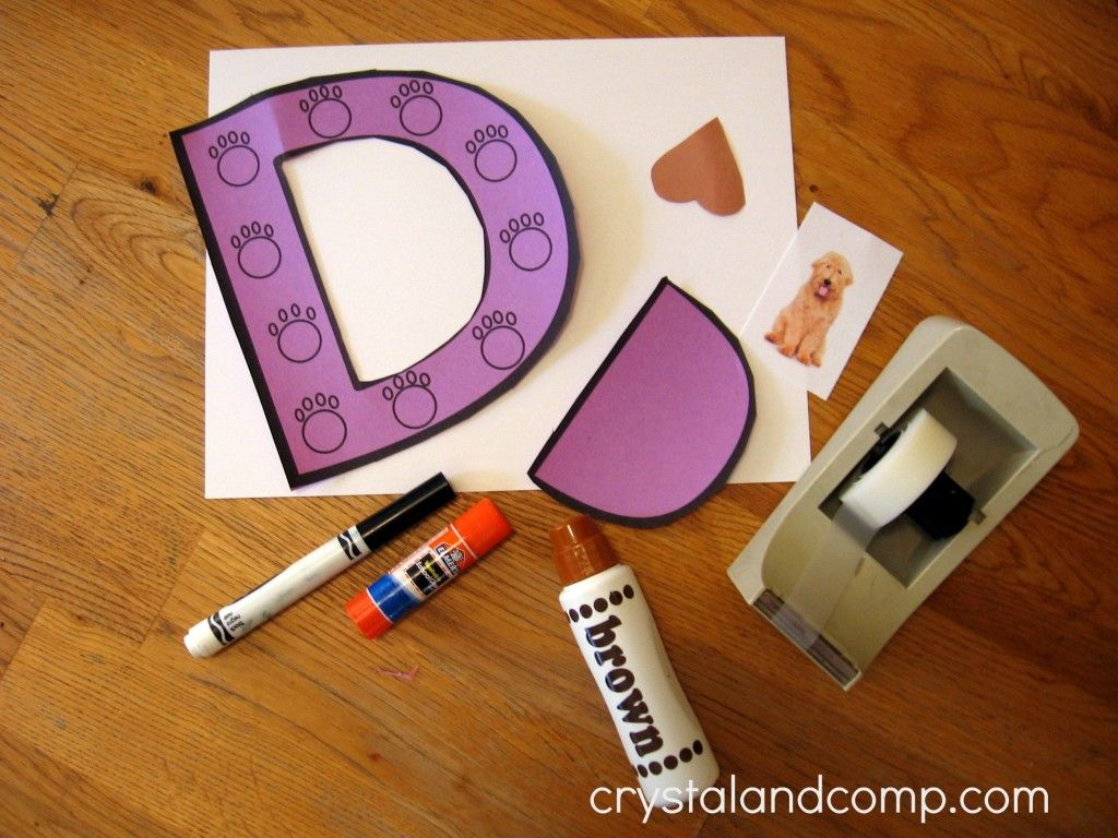 d is for doghouse preschool letter of the week craft letter