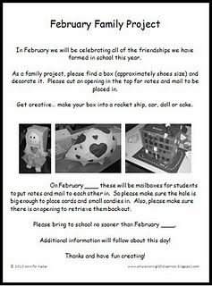Valentine S Box Family Project Freebie Family Project Valentine