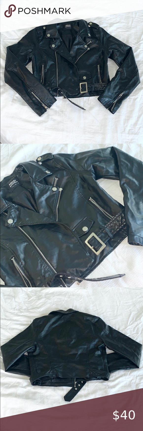 Ashley Outerwear Black Leather Jacket Leather Jacket Black Leather Jacket Black Leather [ 1740 x 580 Pixel ]