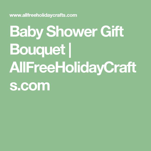 Baby Shower Gift Bouquet | AllFreeHolidayCrafts.com