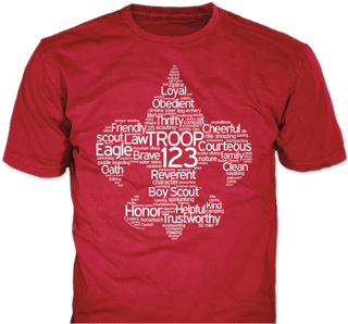 Boy Scout Troop T Shirt Design Idea On Red T Shirts
