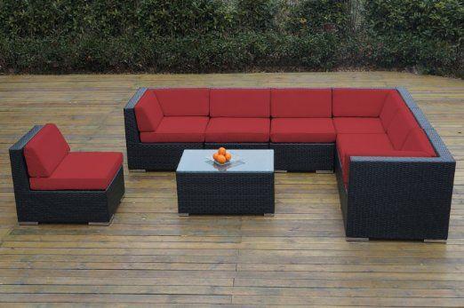 Ohana Collection Pn0804sr Sunbrella Outdoor Patio Wicker Furniture