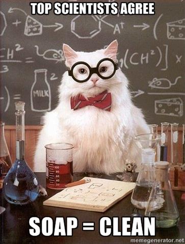 Soap Clean Nerdy Jokes Chemistry Cat Nerd Humor