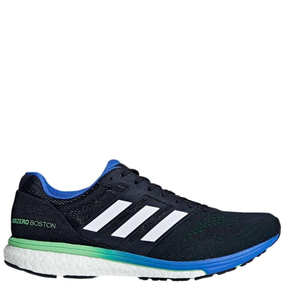 san francisco 9e7e8 b3006 adidas Mens Adizero Boston 7 Running Shoe Legend InkShock Limehires Blue  10.5
