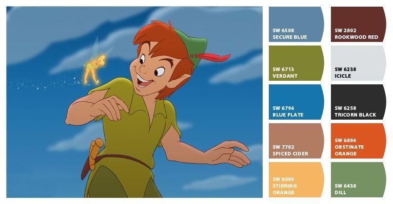peter pan color palette   Disney Color Palette   Pinterest   Peter ...
