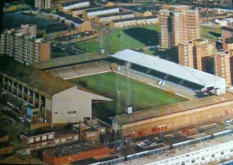 Upton Park, West Ham in the 1970s.   Old Stadium pics ...