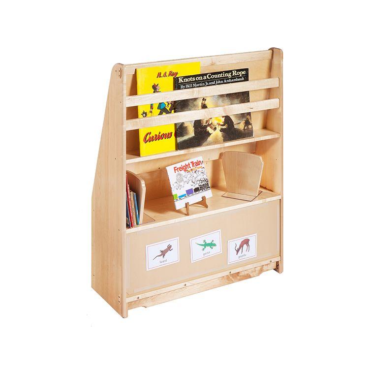 Perfect Quality Kids Classroom Teak Wood Furniture Book Shelf Hot Sale