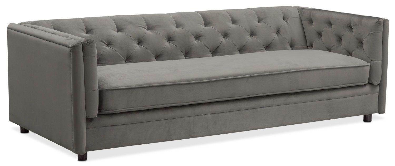 Living Room Furniture Gabe Sofa Flannel