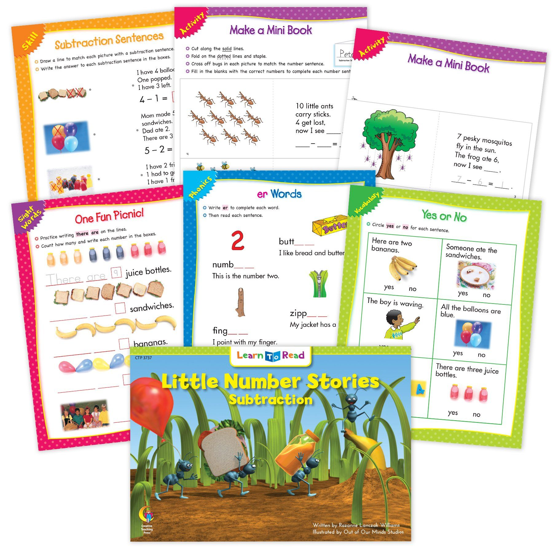 Little Number Stories Subtraction Ebook Amp Worksheets In
