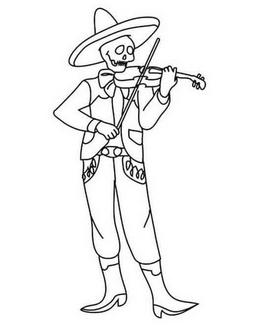 The Day Of The Dead Coloring Pages Printable