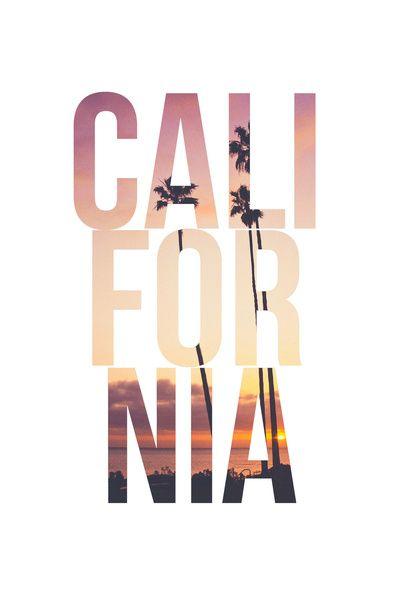 CALI FOR NIA (White) Art Print