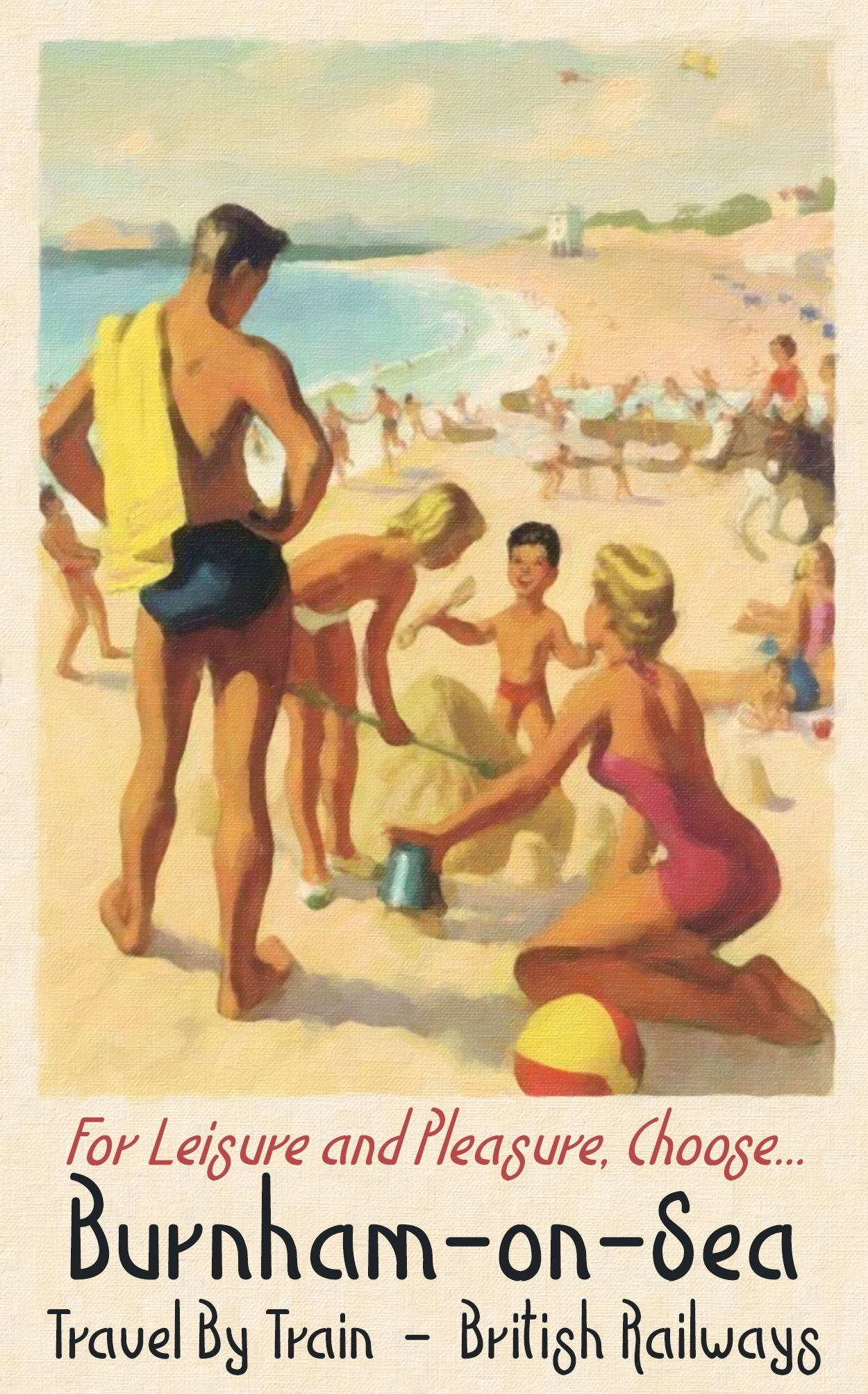 Broadstairs British Railways Holiday Advert Old Vintage Retro Picture Poster 2