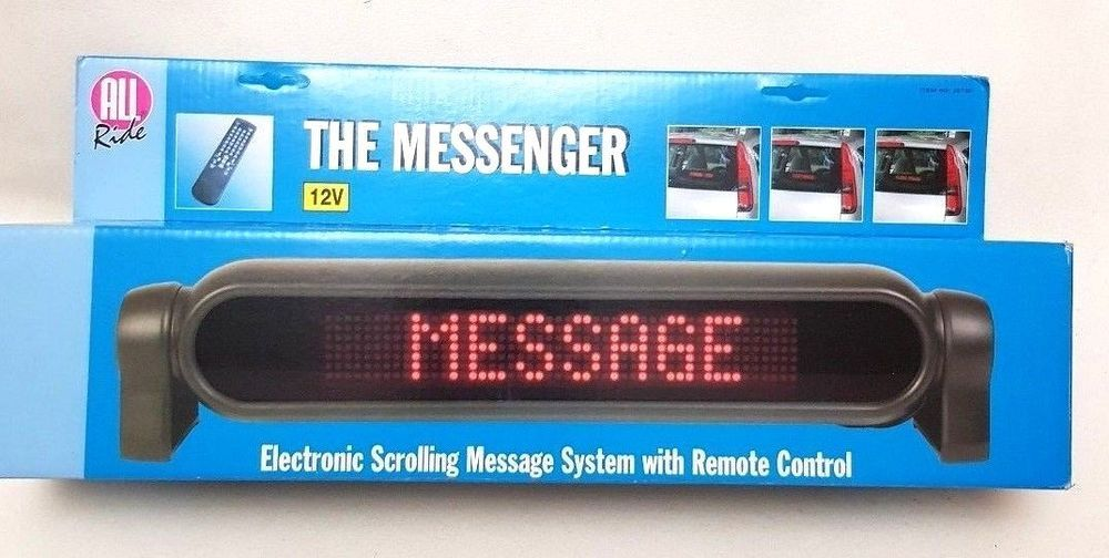 Car Vehicle Scrolling Text Message System Electronic 12v Messenger Allride Allride Messages Electronics All Ride