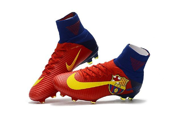 c047da101bc9 NIKE FCB Mercurial Superfly V FG Football Boots High Ankle Soccer Cleats