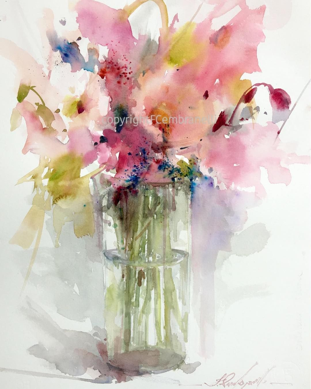 Watercolor Flowers Paintings Image By Anne Sheaffer On Free