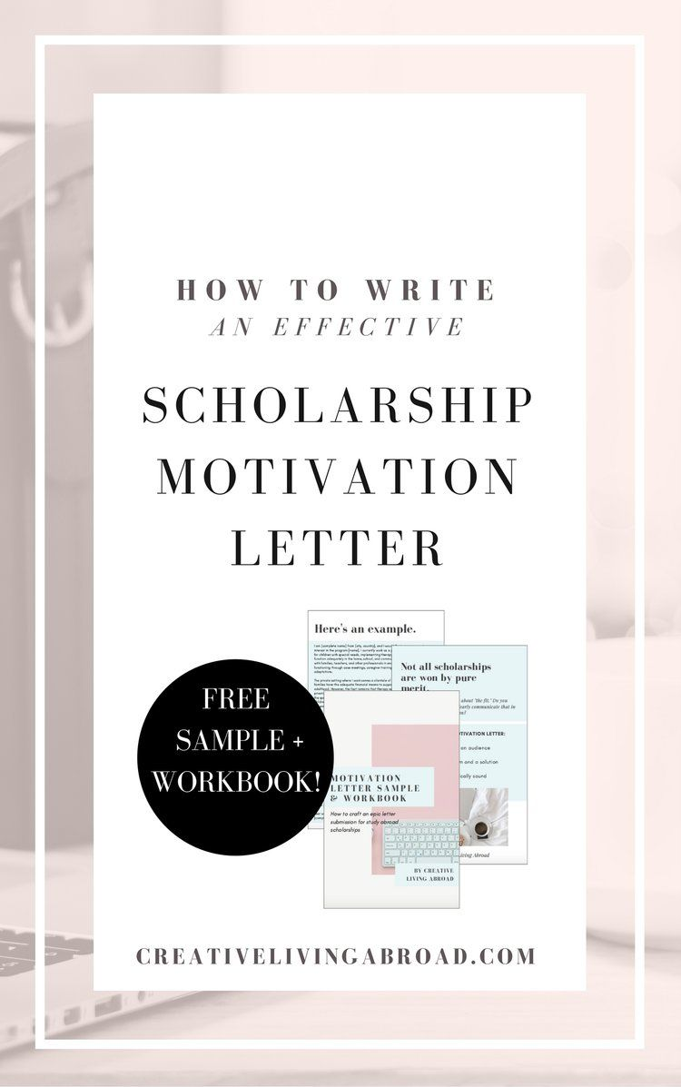 How to write an effective scholarship motivation letter how to write motivation letter for study abroad scholarships expocarfo Images