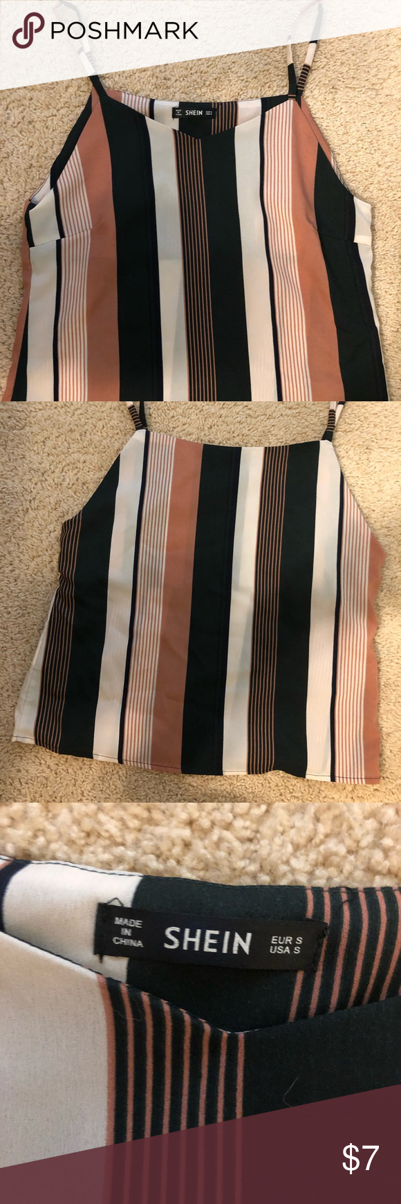 Striped Cami Top A nice striped cami! I bough it online, so there are no tags, and it was just too big for me. SHEIN Tops Camisoles #stripedcamitops Striped Cami Top A nice striped cami! I bough it online, so there are no tags, and it was just too big for me. SHEIN Tops Camisoles #stripedcamitops