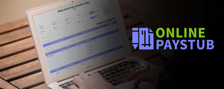 Paystub generator Make pay stubs online onlinepaystub