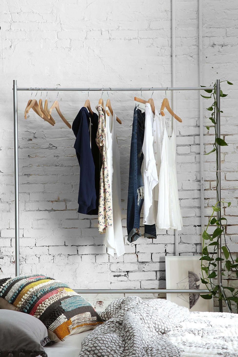 Rolling Clothing Rack