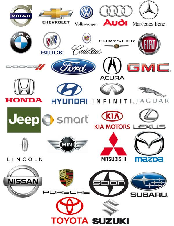 These Are Different Names Of Cars Made In The United States As - Cars sign and names