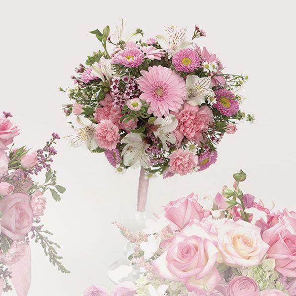 Wedding Flowers Think Pink Carnation Bouquet Silk Flowers Wedding Wedding Flowers