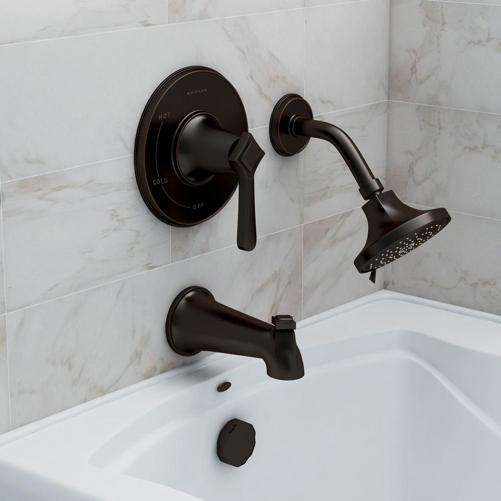 KOHLER Georgeson Single-Handle 3-Spray Tub and Shower Faucet in Oil ...