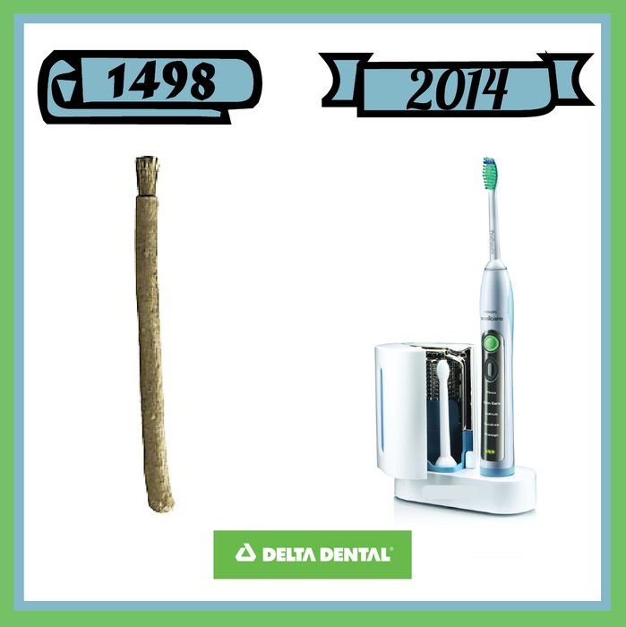 TBT to your tooth brush then and now deltadental