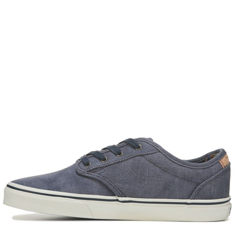 Vans Kids  Atwood Deluxe Sneaker Pre Grade School Shoes (Navy Marshmallow)  - 1.0 M 1be45fa940