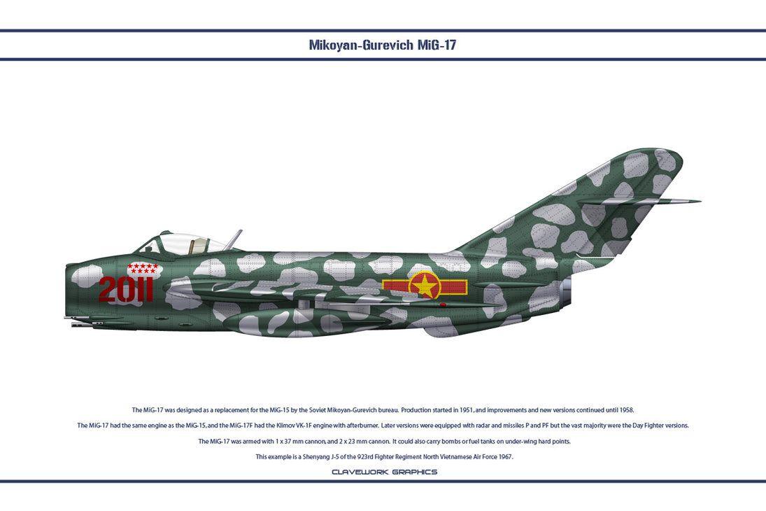 Os MiG-17 foram tão bem-sucedidos - nas mãos tanto de pilotos vietnamitas habilidosos quanto de alguns russos - que os Estados Unidos adquiriram vários MiG-17.
