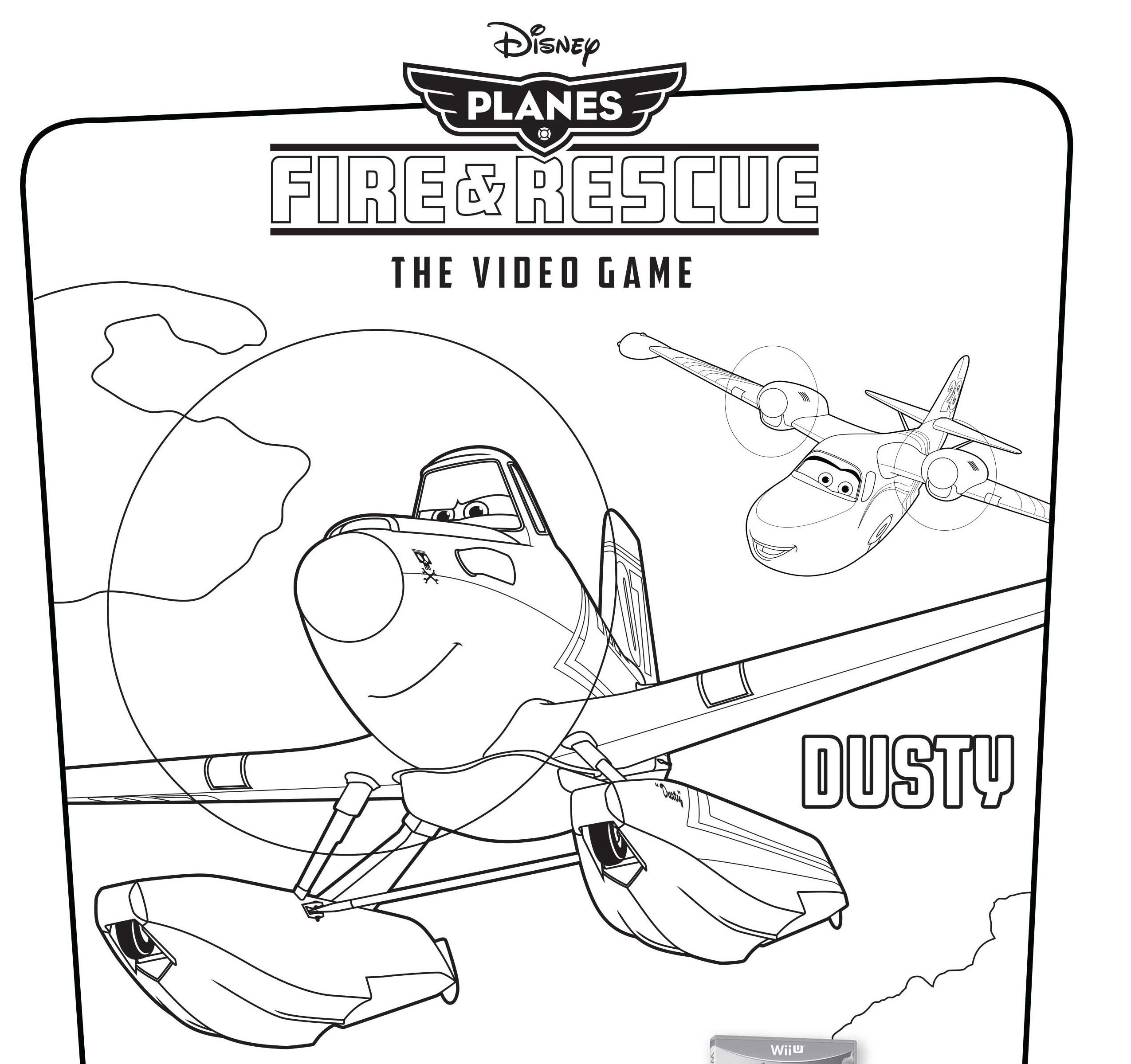 Disney S Planes Fire Rescue Video Game Coloring Pages Disney