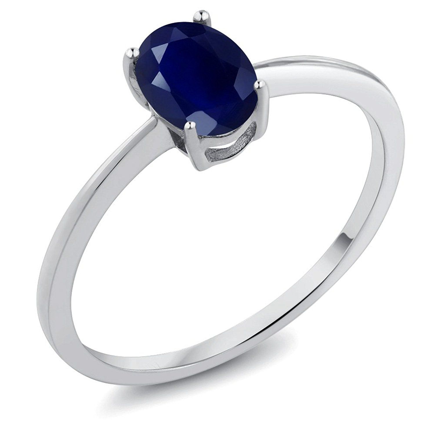 1 02 Ct Oval Blue Sapphire 10k White Gold Ring Check This Awesome Product By Going To The Link At The Image White Gold Rings Purple Amethyst Blue Tanzanite