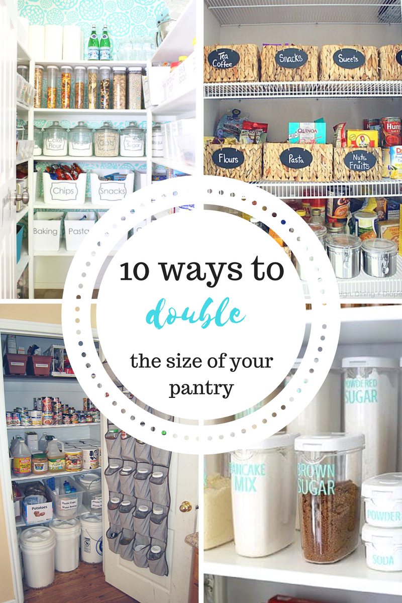 10 Ways to Double the Size of Your Pantry | Pinterest | Tiny pantry ...